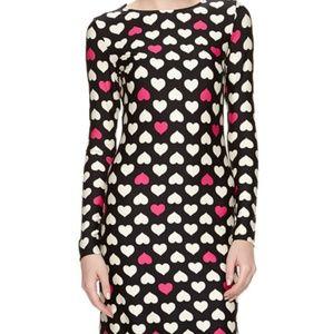 Julie Brown Morgan Heart Jersey Dress XS